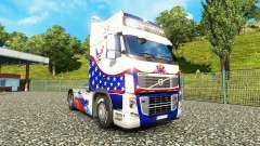 La piel de las Estrellas & Rayas en un Volvo