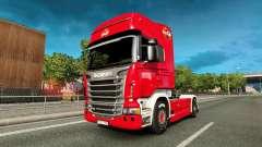La piel de Coca-Cola de camiones Scania