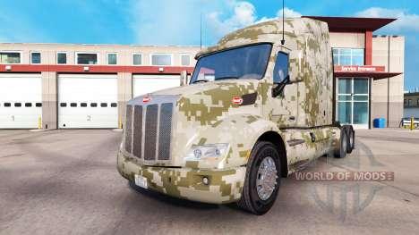 Camuflaje pieles para el Peterbilt y Kenworth tr para American Truck Simulator