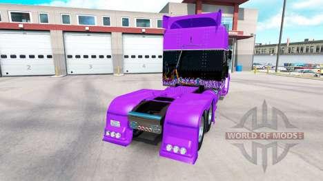 Piel de carreras para el camión Peterbilt 389 para American Truck Simulator