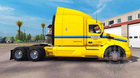 La piel Penske Truck Rental camión Peterbilt para American Truck Simulator