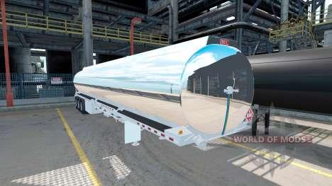 El cromado tanque semirremolque Heil [3 ejes] para American Truck Simulator