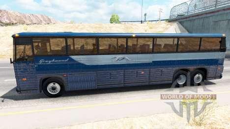 La piel en autobús Greyhound para American Truck Simulator
