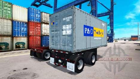El semi-remolque contenedor para American Truck Simulator