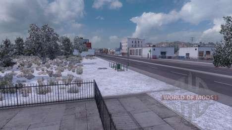 Invierno mod (de Invierno con Heladas Meteorológ para American Truck Simulator