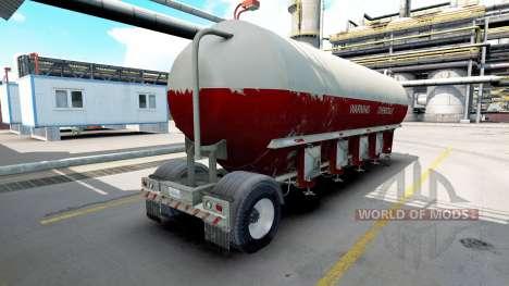 Semitrailer tanque para American Truck Simulator