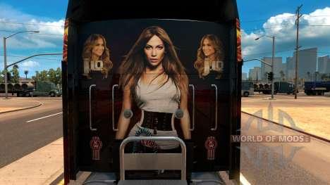 Kenworth W900 Jennifer Lopez Paint Skin para American Truck Simulator