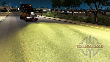 La luz amarilla v1.1 para American Truck Simulator