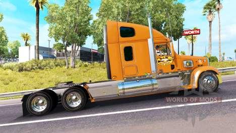 La piel de Un&W en el camión Freightliner Corona para American Truck Simulator