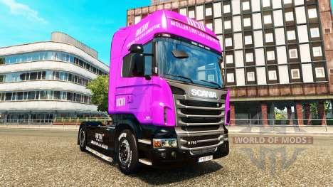 Muller pieles para camiones MAN Scania y Volvo para Euro Truck Simulator 2