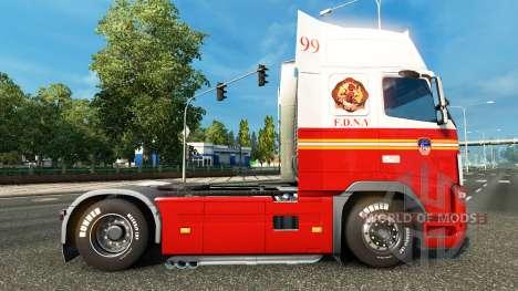 99 departamento de BOMBEROS de la piel para cami para Euro Truck Simulator 2