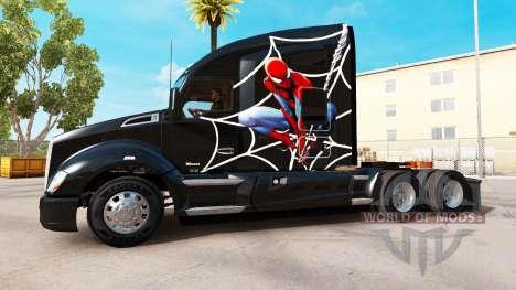 Spiderman piel para Kenworth tractor para American Truck Simulator