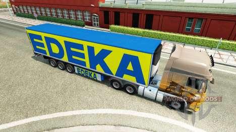 El semi-remolque de EDEKA para Euro Truck Simulator 2