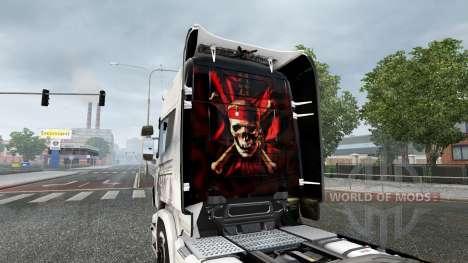 La piel de los Piratas del Caribe-en el tractor  para Euro Truck Simulator 2