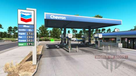 Real de la estación de gas para American Truck Simulator