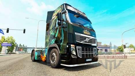 El Mundo de Warcraft piel para camiones Volvo para Euro Truck Simulator 2