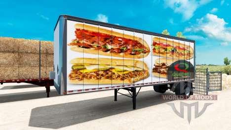 Pieles de comida rápida Americana remolques para para American Truck Simulator