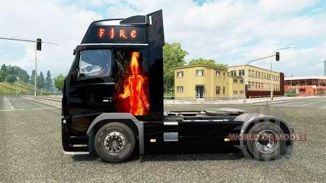 Fuego en la piel para camiones Volvo para Euro Truck Simulator 2