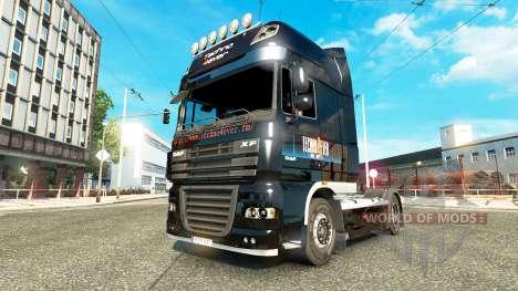 Techno4ever de la piel para DAF camión para Euro Truck Simulator 2