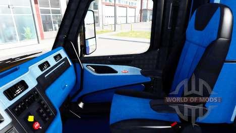 Negro y azul, interior en un Peterbilt 579 para American Truck Simulator