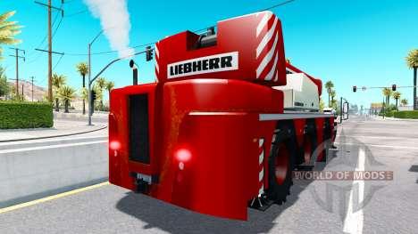 Grúa móvil Liebherr en el tráfico para American Truck Simulator