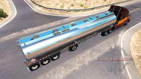 El cromado tanque semirremolque Heil [4 ejes] para American Truck Simulator