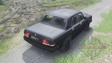 GAZ-3110 Volga [negro][03.03.16] para Spin Tires