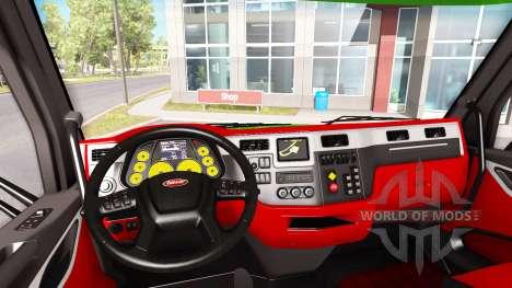 Color de Peterbilt 579 interior en el estilo de  para American Truck Simulator