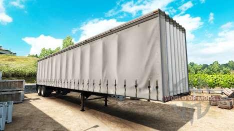 El semi-remolque de la cortina para American Truck Simulator