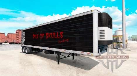 Refrigerado semi-remolque de la Pila de Cráneos para American Truck Simulator