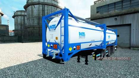 Semitrailer tanque Nijman Zeetank v2.0 para Euro Truck Simulator 2