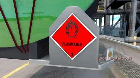 Signos de mercancías peligrosas para American Truck Simulator