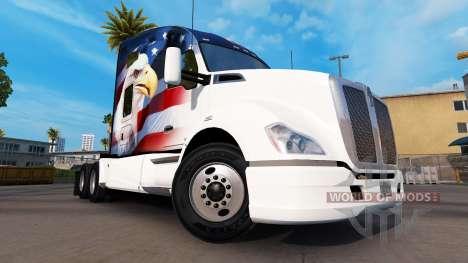 La piel U. S. A. Águila sobre un Kenworth tracto para American Truck Simulator