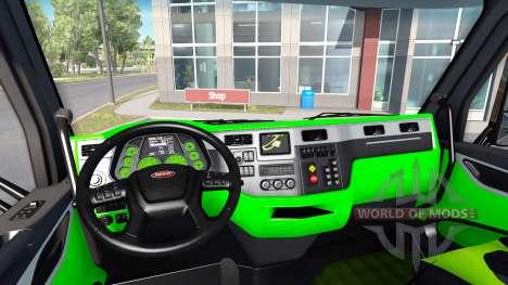 De neón de color verde interior Peterbilt 579 para American Truck Simulator