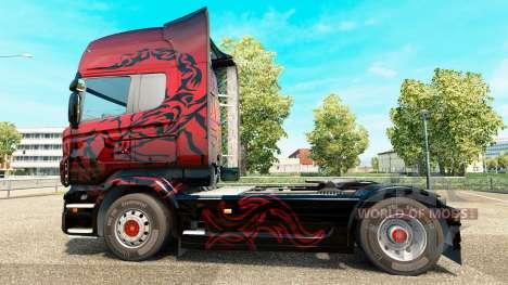 Escorpión rojo de la piel para Scania camión para Euro Truck Simulator 2