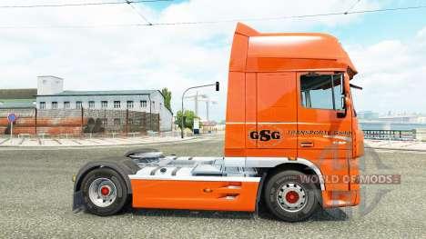 GSG skin for DAF truck para Euro Truck Simulator 2