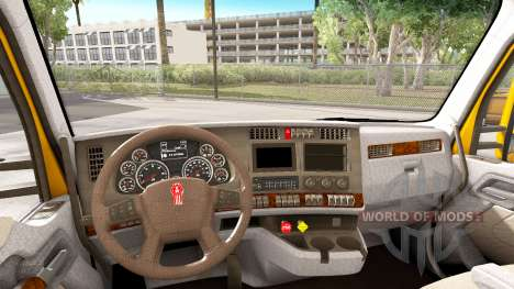 La luz de color marrón interior en Kenworth T680 para American Truck Simulator