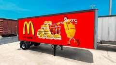 Pieles de comida rápida Americana remolques para