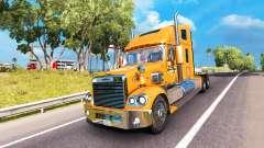 La piel de Un&W en el camión Freightliner Corona