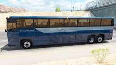 La piel en autobús Greyhound