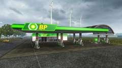Europea de la estación de gasolina