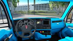 Azul Kenworth T680 interior