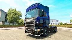 Escorpión azul de la piel para Scania camión
