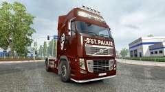 La piel FC San Pauli en un camión Volvo