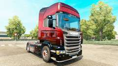 Escorpión rojo de la piel para Scania camión