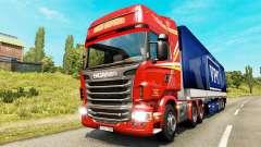 Páginas para colorear para el tráfico de mercancías para Euro Truck Simulator 2