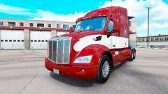 Rojo-blanco de la piel para el camión Peterbilt
