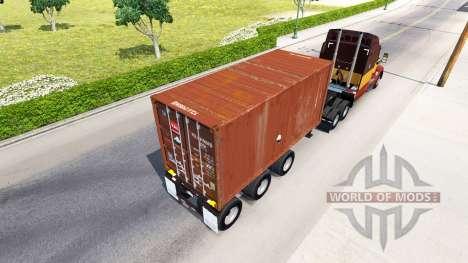 El semi-remolque con un contenedor de 20 libras para American Truck Simulator