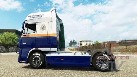 Flensburg Cervecería skin for DAF truck para Euro Truck Simulator 2