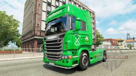 Raiffeisen piel para Scania camión para Euro Truck Simulator 2